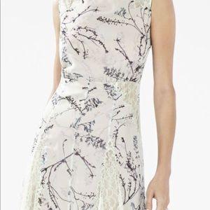 Beautiful BCBG lace paneled mini dress